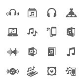 Simple Set of Sound Related Vector Icons for Your Design.