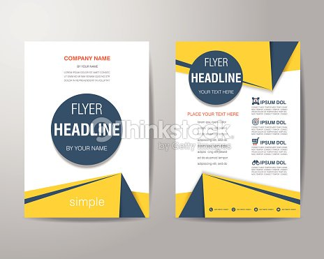 simple triangle and circle brochure flyer design layout template vector art
