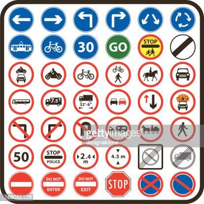 Simple Uk Road Signs M...