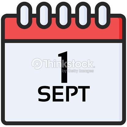 Calendario Vectores.Simple Vector Icono De Un Calendario Clasico Para Primero De