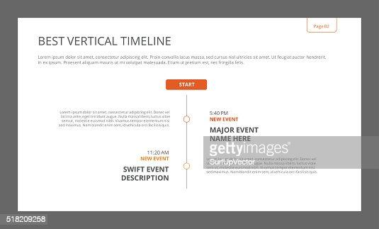 Vertical Timeline Template | Simple Vertical Timeline Template Vector Art Thinkstock