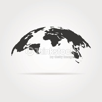Simple world map icon with shadow vector art thinkstock simple world map icon with shadow vector art gumiabroncs Image collections