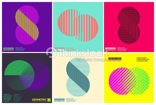 Simplicity Geometric Design Set Clean Lines and Forms : stock vector