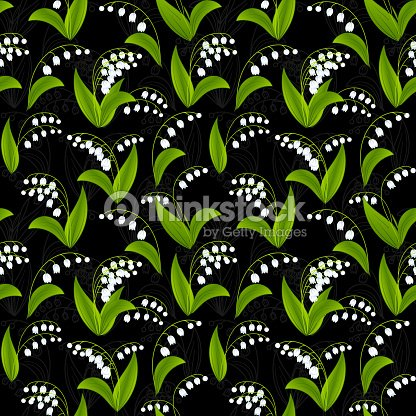 Simplified Image Of Spring Flower Lily The Valley Flowers On Vector