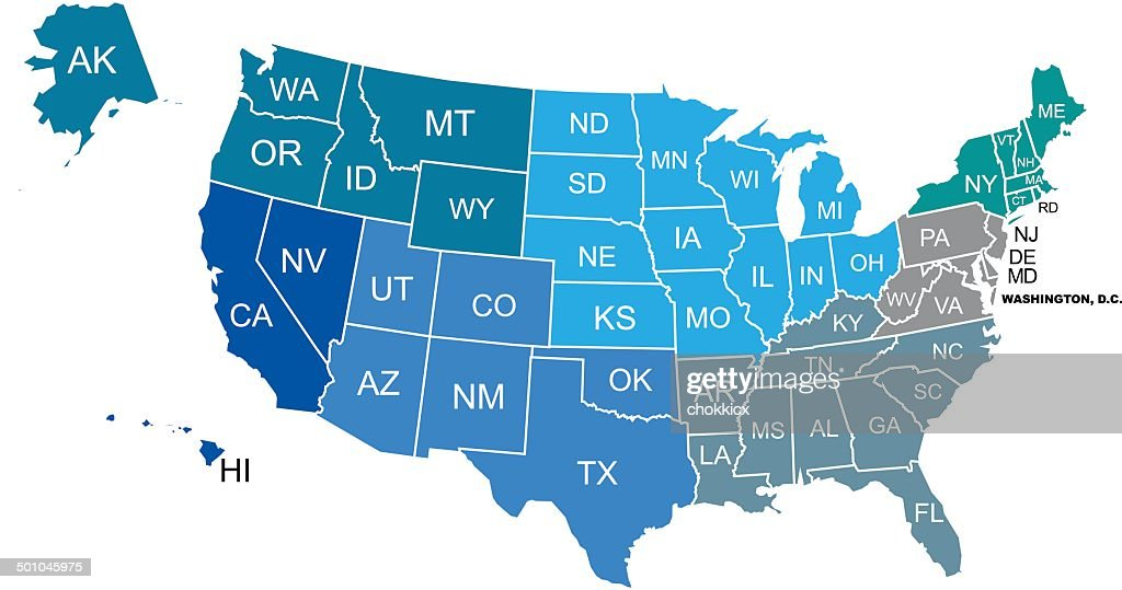 Usa And World Map Kit Vector Art Getty Images - Maps de usa