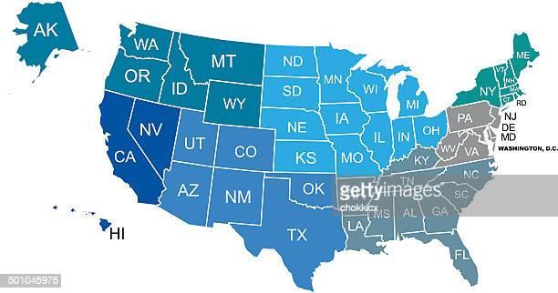 Simplified USA Map