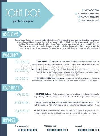 Schlichtes Modernes Lebenslauf Curriculum Vitae Cvvorlage Design Wit