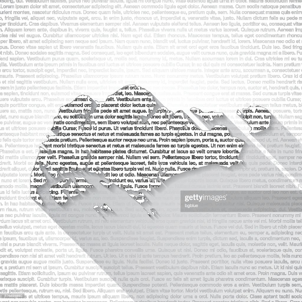 Singapore Map On Text Background Long Shadow Vector Art Getty Images - Singapore map 1990