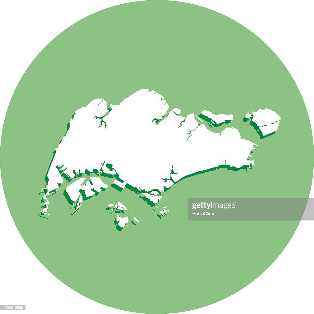 Singapore Round Map Icon Vector Art Getty Images