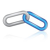 Abstract 3d illustration of single chain link
