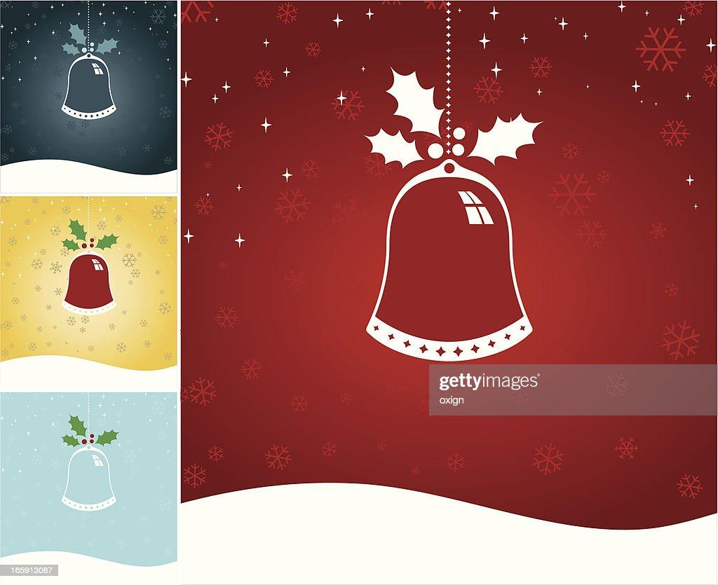 Single Christmas Chime or Bell : Vector Art