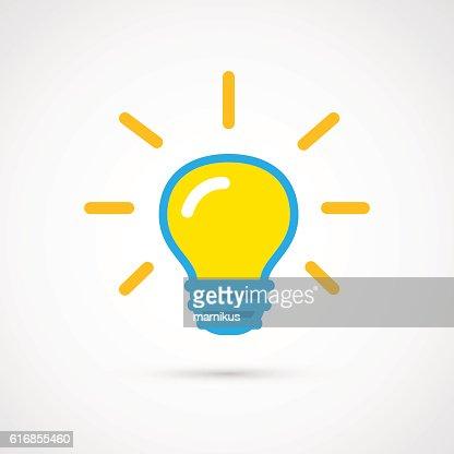 Single color Light bulb. : Vector Art