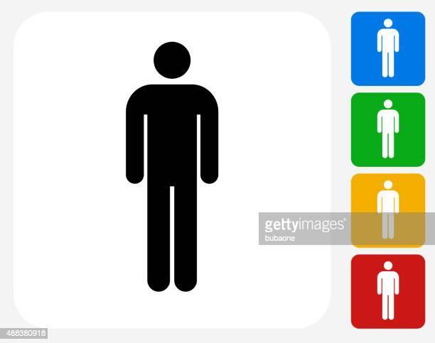 Single Sticker Figure Icon Flat Graphic Design