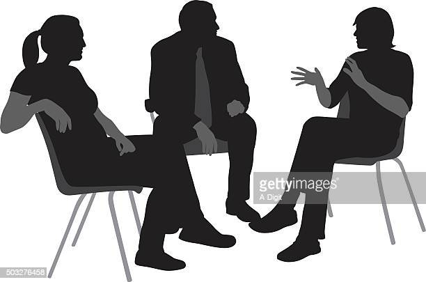 Sitting And Talking Silhouettes
