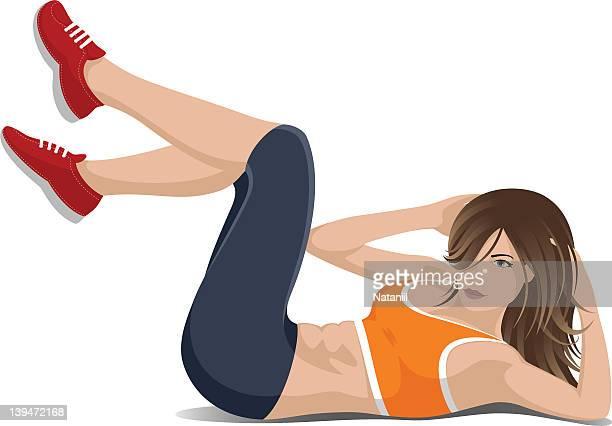 ImagesVideo腹筋運動のイラスト素材と絵