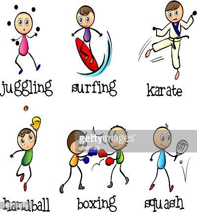six different sports vector art thinkstock