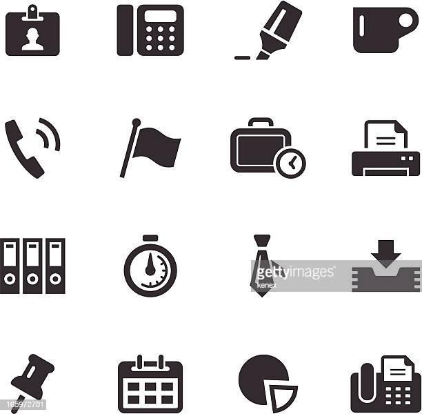 Mono icônes Set/entreprise & bureau