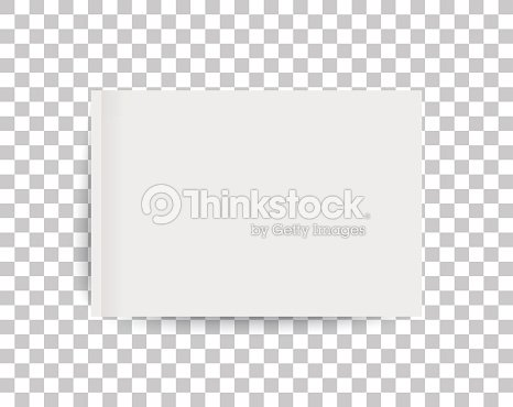 A4 sized mockup of a landscape-oriented magazine or catalogue. Blank sheet of paper. 3d vector illustration for your design. : stock vector