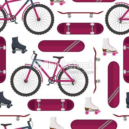 Skate, bike, roller skates. Street sport.