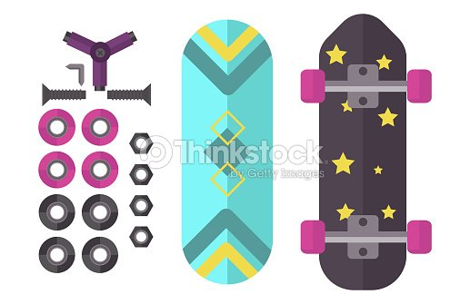 Skateboard icon extreme sport sign vector illustration