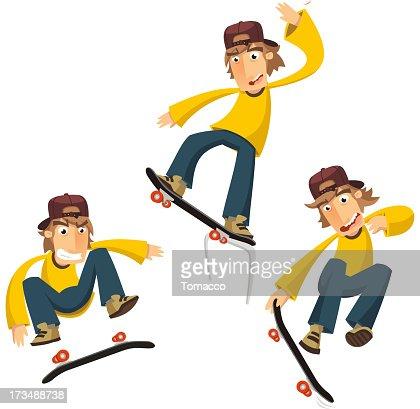 Skateboard Tricks : Vector Art