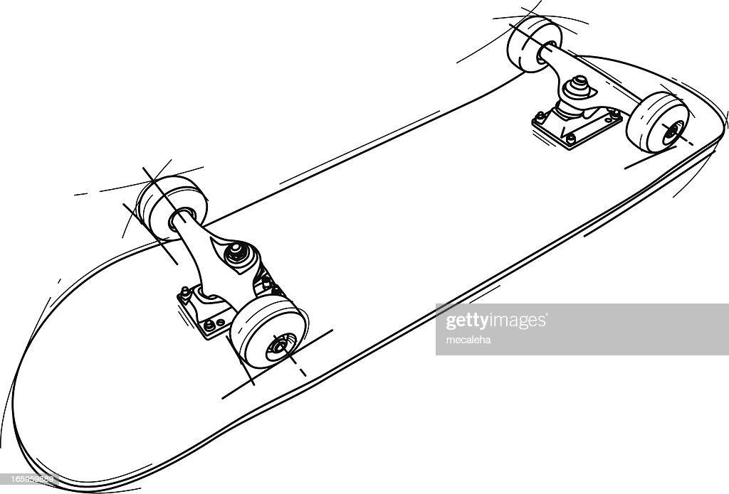 Digital skateboard sketch by melbournelad on DeviantArt