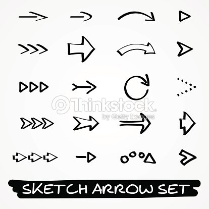 sketch arrow set vector art thinkstock