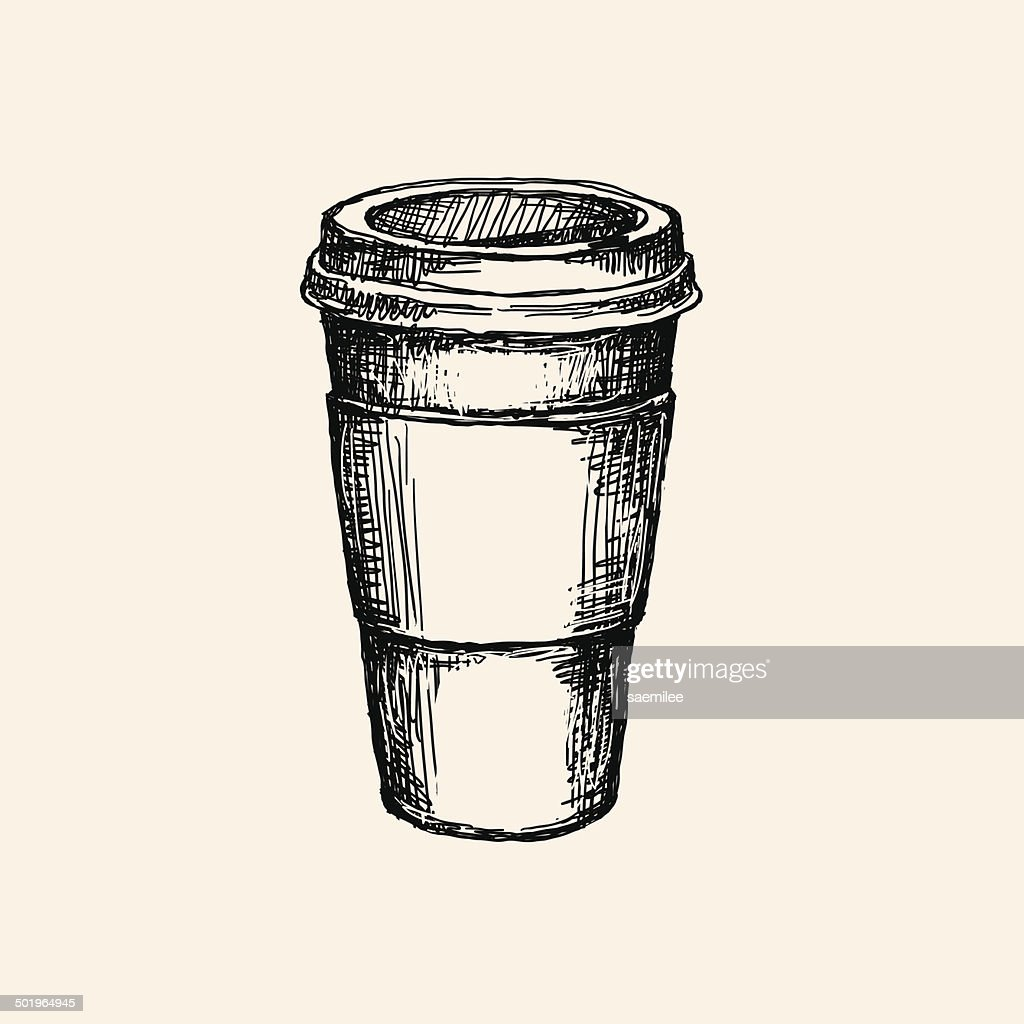 Coffee cup sketch - Sketch Coffee Cup Vector Art