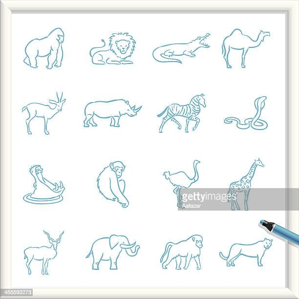 Sketch Icons - African Animals