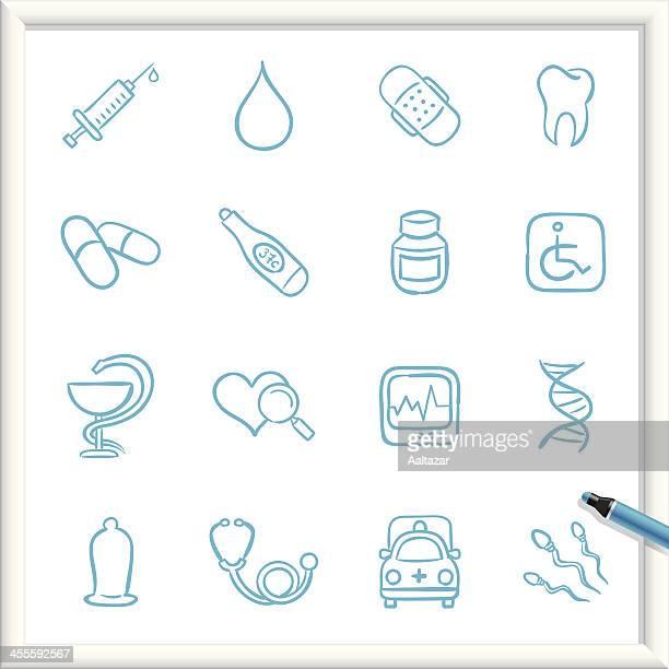Sketch iconos médicos