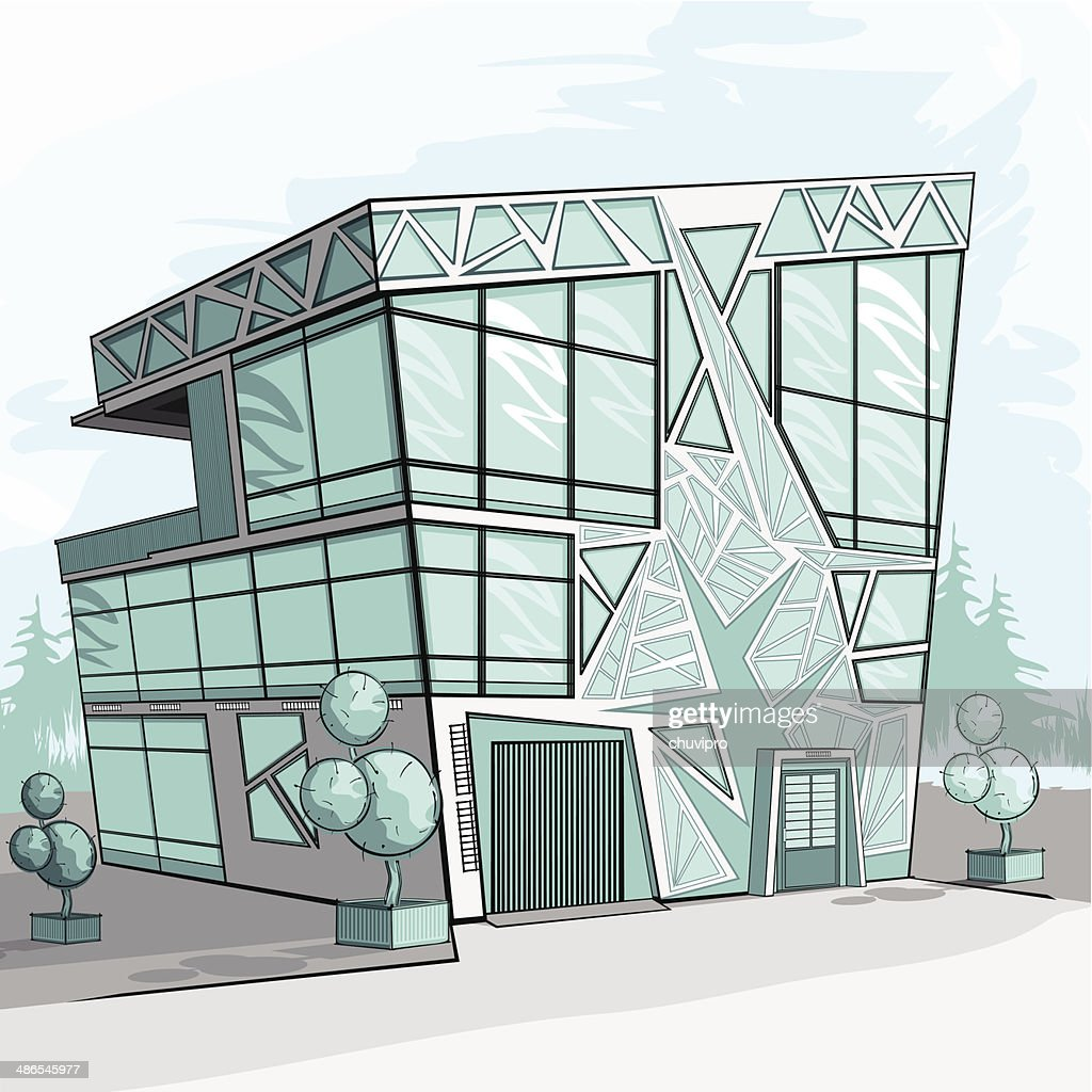 Sketch Of A Modern House Vector Art Getty Images