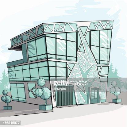 Modern House Vector Art Getty Images - Modern house sketch