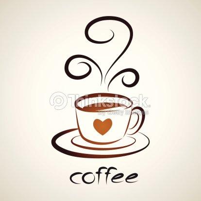 Sketch Of Icon Coffee Cup Symbol Design Vector Art Thinkstock