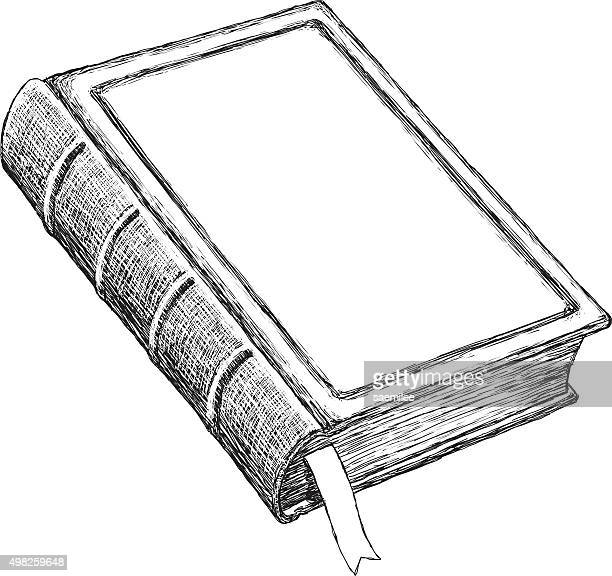 Skizze Vintage Buch
