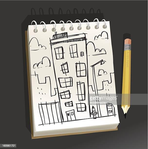 Bloc de dibujo-apartamento