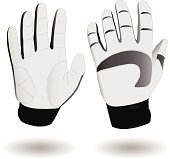 Vector illustration of a pair of ski gloves