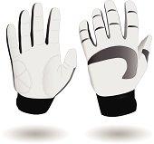 Vector illustration of a pair of ski gloves