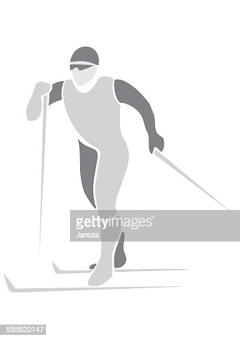 skier, sports icon : Vector Art
