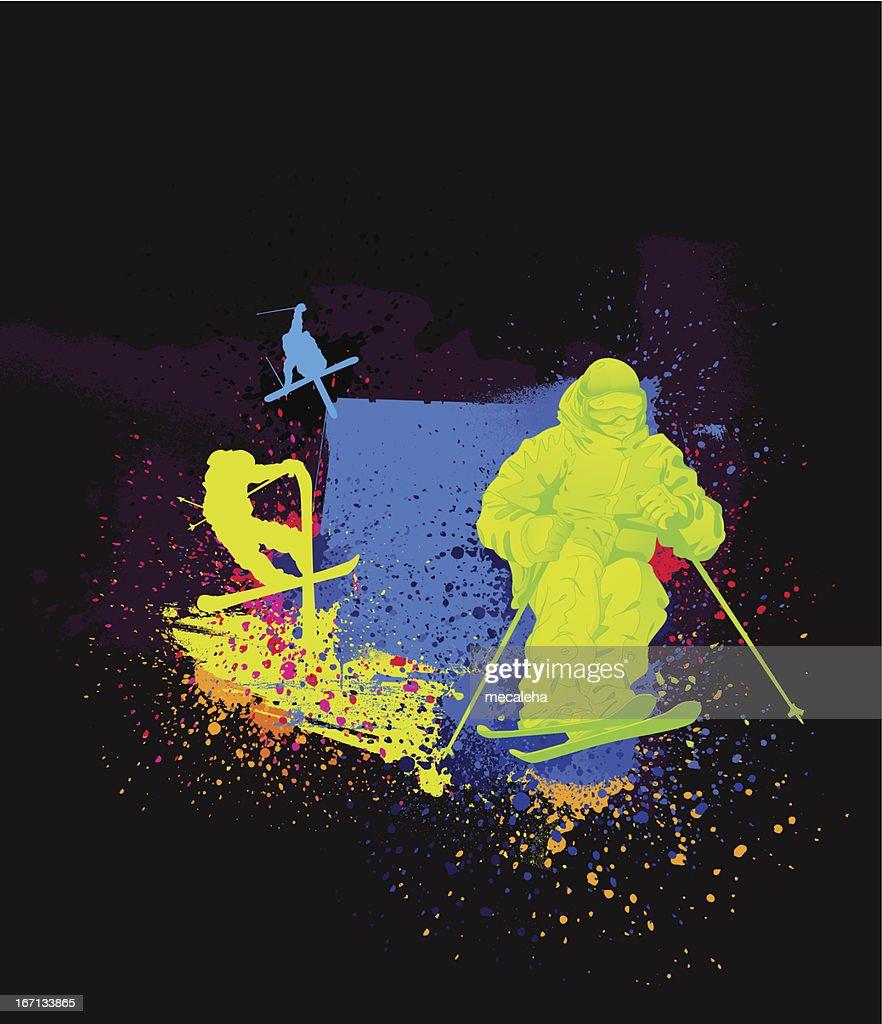 Skiing Design : Vector Art