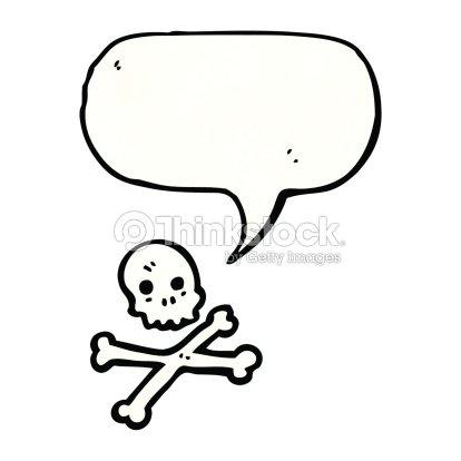 Skull And Crossbones Symbol With Speech Bubble Vector Art Thinkstock