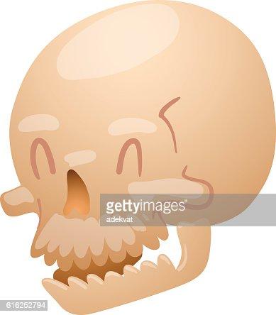 Skull face illustration isolated on white background. : Vector Art