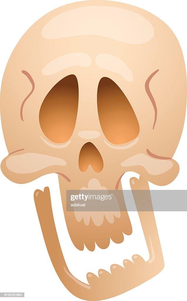 Skull face illustration isolated on white background. : Arte vetorial