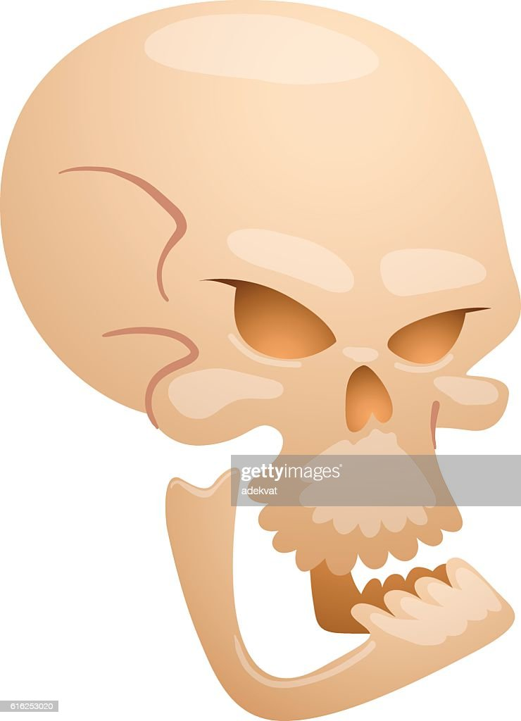 Skull face illustration isolated on white background. : Arte vectorial