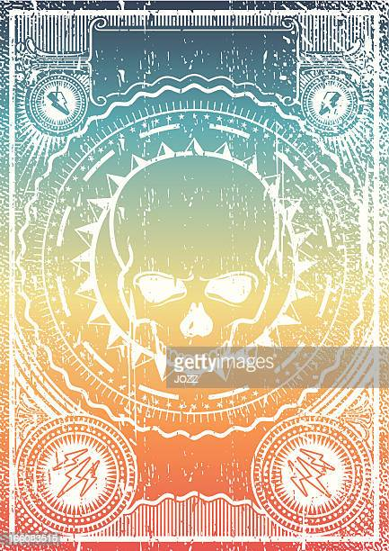 skull grunge poster