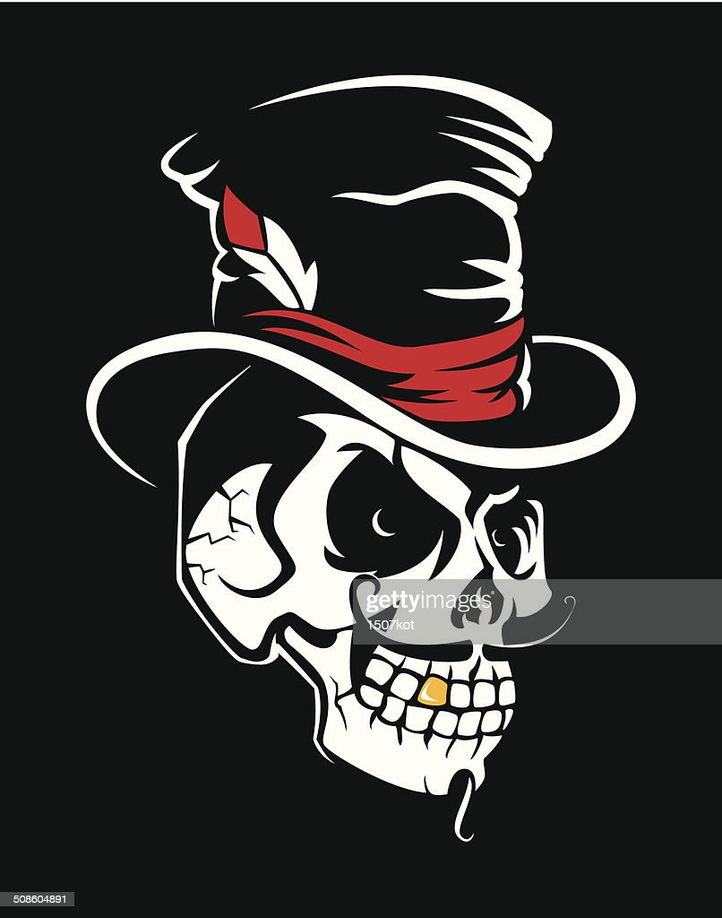 Skull in the Cylinder : Vector Art