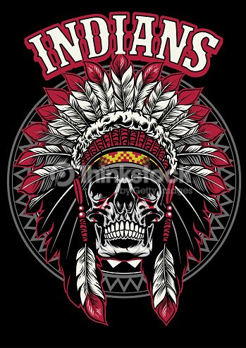 Skull Of Native American Warrior Vector Art Thinkstock