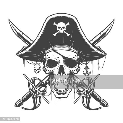 how to draw a skull with colour pirate flag