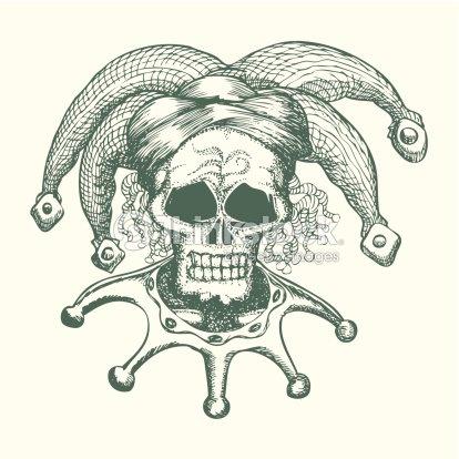 Cr ne portant chapeau de joker clipart vectoriel thinkstock - Dessin horreur ...