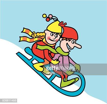 sledding vector art thinkstock