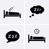 Sleep Icons set Vector. Bedtime icon